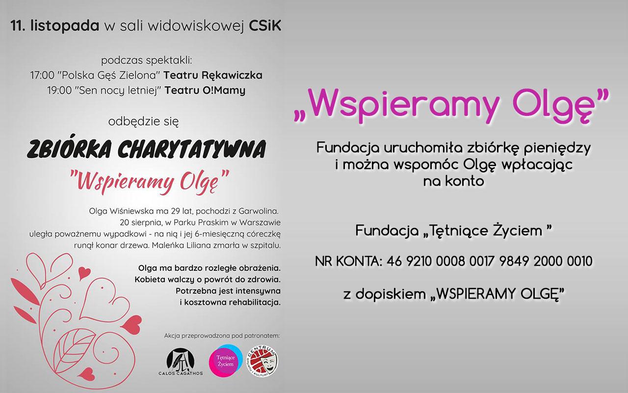 """Zbiórka charytatywna """"Wspieramy Olgę"""" – 11.11.2018 r."""