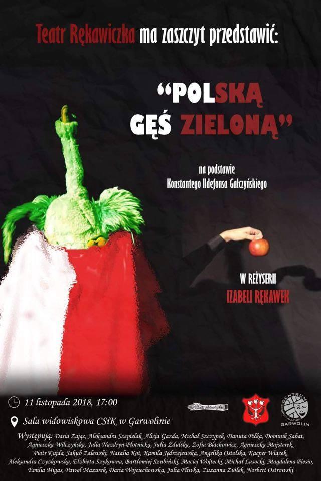 """Teatr Rękawiczka """"Polska Gęś Zielona"""""""